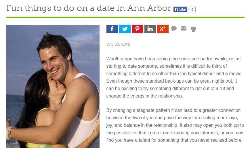 Ann arbor dating ideas